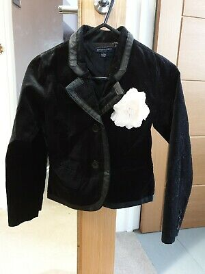 Pumpkin Patch Black Velvet Jacket Age 7 Years