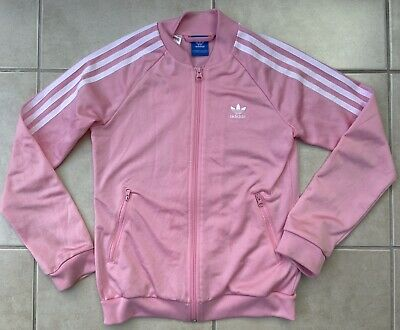 Girls Pink Adidas Originals Tracksuit Top JD Sports Age 11-12