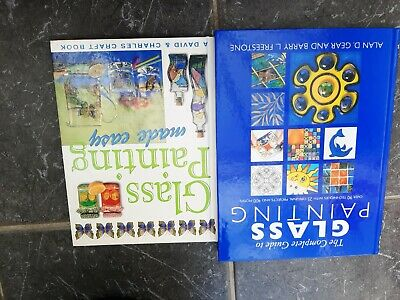 glass painting books x2