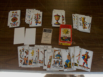 Vtg TAROT Cards In Box w/ Instructions - 1970 by S.R. Kaplan-made in Switzerland