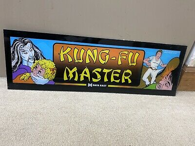 Original Kung-fu Master Plexiglass Header Marquee Coin Op Video Arcade