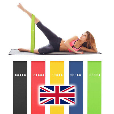 Resistance Bands Exercise Sports Loop Fitness Home Yoga Gym Latex Set Or Singles