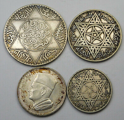 1917-1960 Morocco - French Protecterate Coin Lot - 4 Coins - RL0526-07