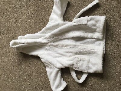 little white company unisex white dressing gown 6-12 months