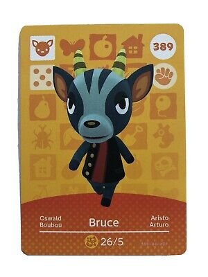 Animal Crossing Official Amiibo Card BRUCE 389 New Horizons