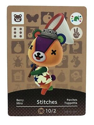 Animal Crossing Official Amiibo Card STITCHES Special Edition New Horizons