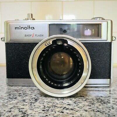 Minolta Hi-Matic 9 35mm Rangefinder Film Camera Rokkor f/1.7, nice glass, case