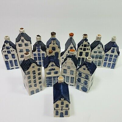 KLM Royal Class Delft Old Dutch House Lot of 13 Holland Paperwork Miniatures Bui