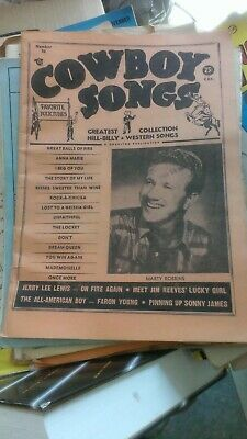 Cowboy Songs old 1966 country music magazine