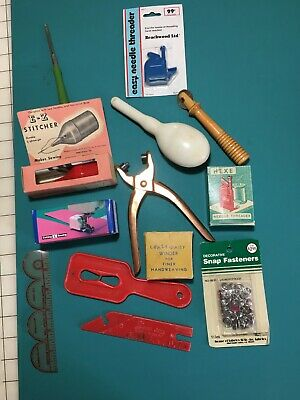 Large lot of vintage sewing items - crazy-daizy winder Ralph Springer and more!