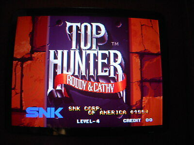 """ Top Hunter ""  Snk Mvs Cartridge For Neo Geo  Arcade  Game"