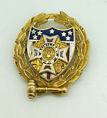 10K YELLOW GOLD VFW PIN 4.4 Grams Scrap