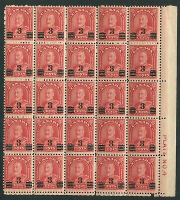 CANADA #191a MINT BLOCK OF 25 VF NH
