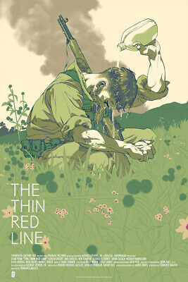 The Thin Red Line - Mondo Poster by Tomer Hanuka Edition of 275 terrence malick