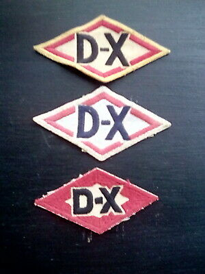 (3) Vintage D-X patches gas and oil
