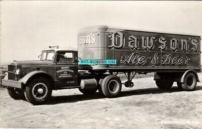 "Ardmore Pa ""Dawson's Beer"" Mann's Trucking New Bedford Ma Real Photo ~ Rppc Rare"