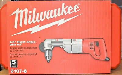 "Milwaukee 3107-6 1/2"" Corded Right Angle Drill Kit - NEW"