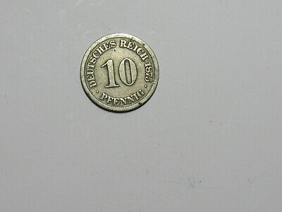 Old Germany Coin - 1875 J 10 Pfennig - Circulated