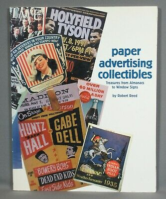 Paper Advertising Collectibles, Treasures Almanacs to Window Signs, Reed, 1998