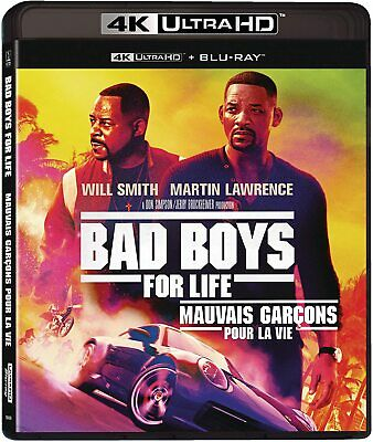 Bad Boys For Life 4K ULTRA HD +BLU-RAY +DIGITAL +SLIPCOVER Brand New & Sealed!