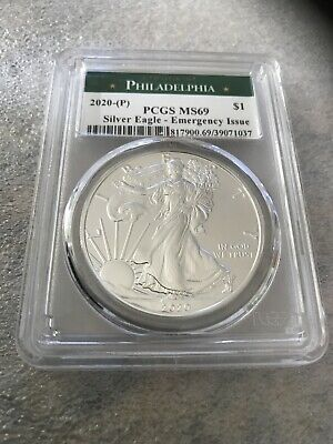 2020 (P) $1 American Silver Eagle PCGS MS69 Emergency Production Philadelphia