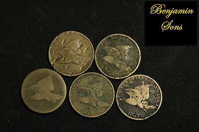 1858-1857 (5 Coins) Flying eagle Lot, 052620-04 Free Shipping! See Images