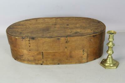 A Very Rare Pennsylvania German 18Th C Oval Brides Box In Original Attic Surface