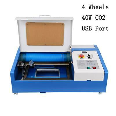 40W CO2 Laser Engraver Cutting Machine Wood stone crystal USB Interface NEW