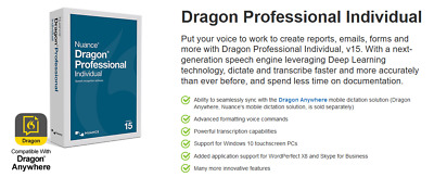 Nuance Dragon Professional Individual 15 Download Version - 780420131163