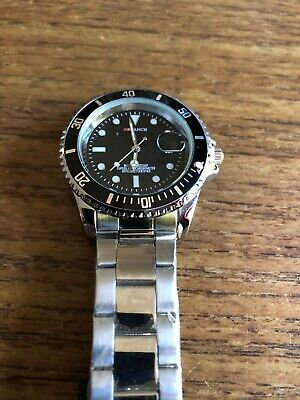 Mens ARLANCH Divers Heavy Style Water Resistant SS  Watch & Band  W850