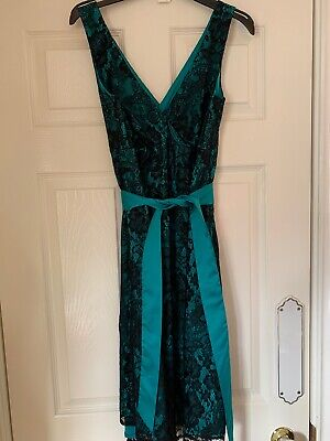 Red Herring Size 10 Ladies Emerald & Black MATERNITY Dress