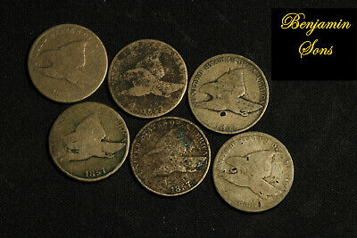 1858-1857 (6 Coins) Flying eagle Lot, 052620-05 Free Shipping! See Images
