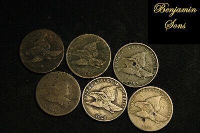 1858-1857 (6 Coins) Flying eagle Lot, 052620-07 Free Shipping! See Images