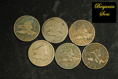 1858-1857 (6 Coins) Flying eagle Lot, 052620-09 Free Shipping! See Images