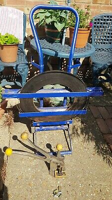 Heavy Duty Metal Mobile Trolley Stand For Pallet Strapping Banding Coils