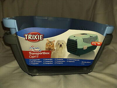 Trixie Capri Size 2 Small Animal Pet Carrier, Blue, New, Cat/Dog Up To 8kg Pet
