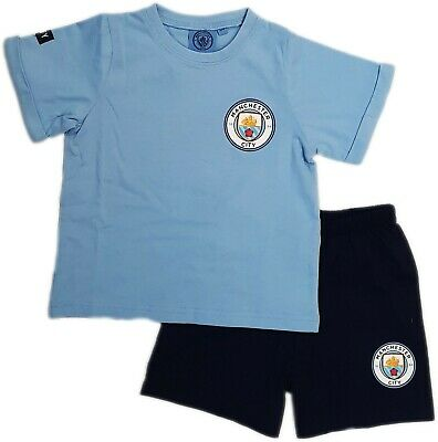 Manchester City FC Official Football Gift Boys Short Pyjamas