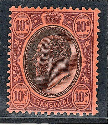 Transvaal 1904-09 Sg 271 Black And Purple On Red Superb Unmounted Mint