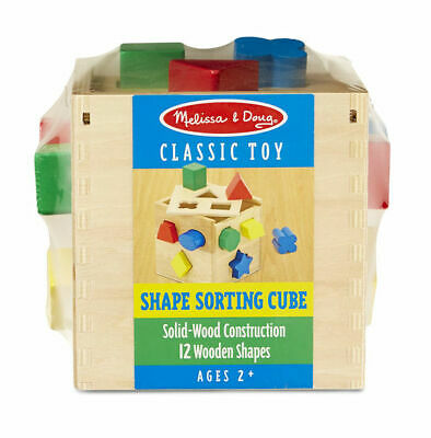 Melissa & Doug: Shape Sorting Cube - Brand New