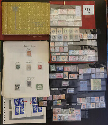 Commonwealth Large Collection In Albums And On Cards Mostly Mint Good Rhodesia