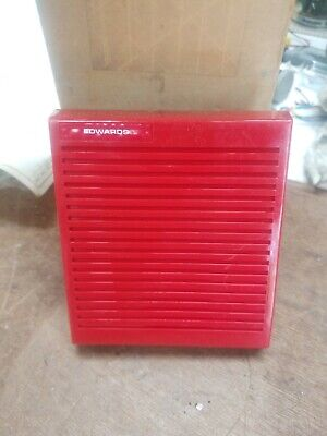 NEW Edwards Signaling 24VCC/DC electronic horn red with leads fire alarm bell