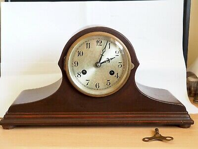 Interesting Striking Clock  2-train movement working approx 1930's