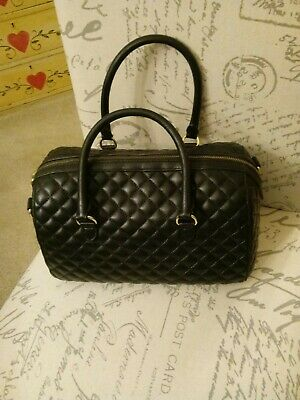 Talbots Black Quilted Leather Satchel Bag. Very Good Condition. Free Shipping