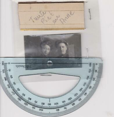 """Two Netherlands """"Named"""" Ladies Small Photograph c1900/10 SEE SCAN"""