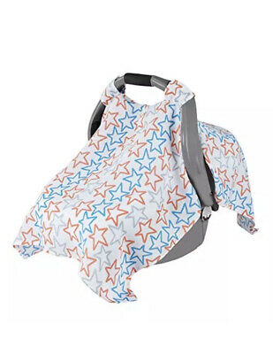 NEW! aden by aden + anais Car Seat Canopy 100% Cotton Muslin - Stars
