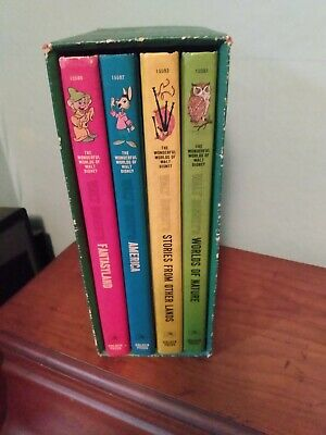 Vintage Walt Disney illustrated hardcover  book set. Published 1965.