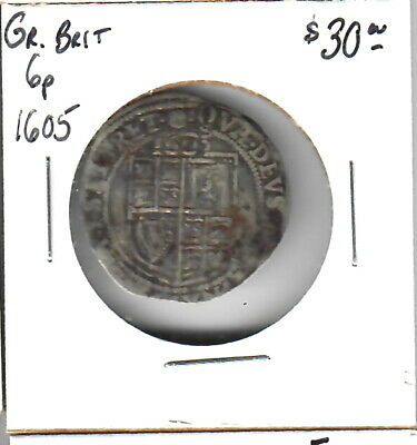 Great Britain Sixpence 1605