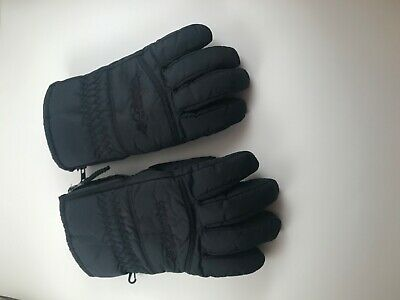Columbia Women's Whirlibird Waterproof Insulated Ski Gloves in Black Size L