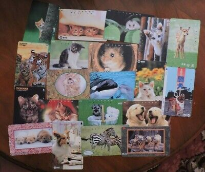 20 Different Japan Animal Phone Cards. Collectors Item. No Value. Lot 1