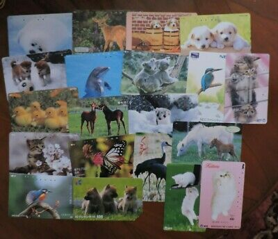 20 Different Japan Animal Phone Cards. Collectors Item. No Value. Lot 6